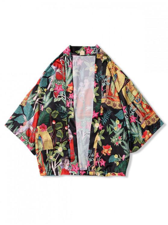 Tribal Women - Cardigan kimono à imprimé fruits et plantes - Multi-H M