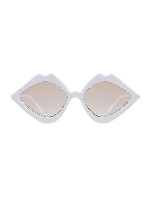 Rhombus Lip Shape Lunettes de soleil - Blanc  Mobile