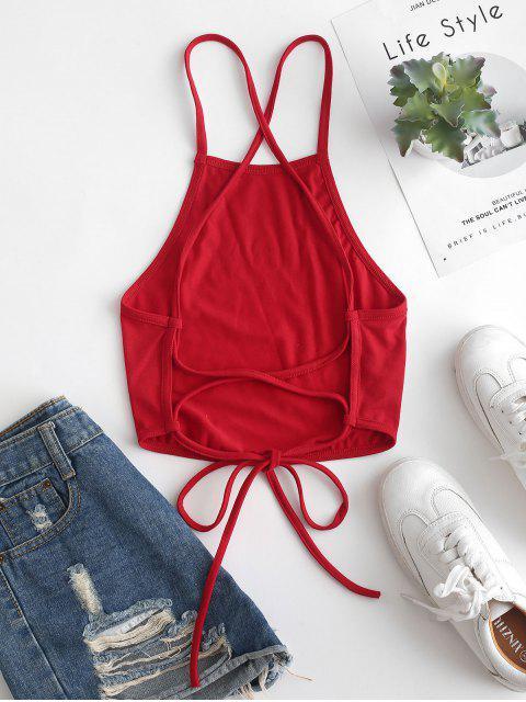 ZAFUL Top Cami con lacci con grafica a stella - Rosso Lava  L Mobile