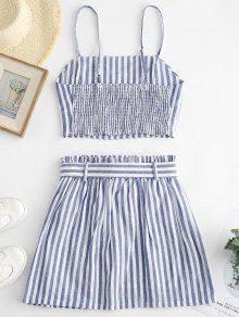 43ea9471bb8 Striped Top and Belted Skirt Set