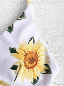 df3738ab39 30% OFF] [HOT] 2019 ZAFUL Sunflower Criss Cross Bikini Set In ...