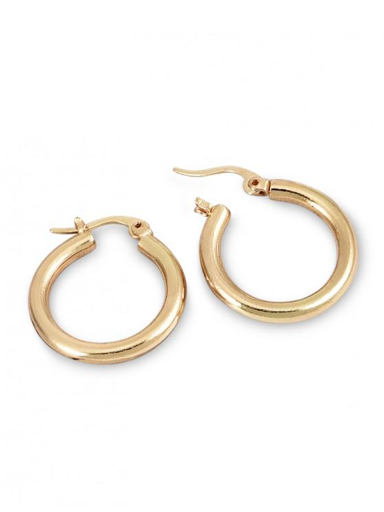 chic Circle Alloy Small Hoop Earrings - GOLD