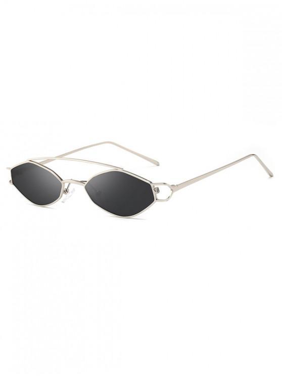 lady Irregular Narrow Arc Bar Sunglasses - TAUPE