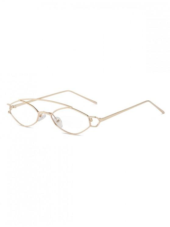 chic Irregular Narrow Arc Bar Sunglasses - TRANSPARENT