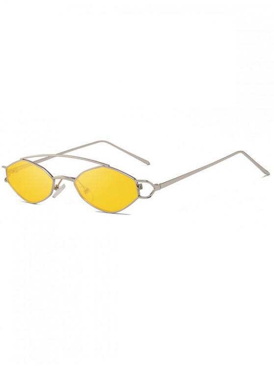 best Irregular Narrow Arc Bar Sunglasses - YELLOW