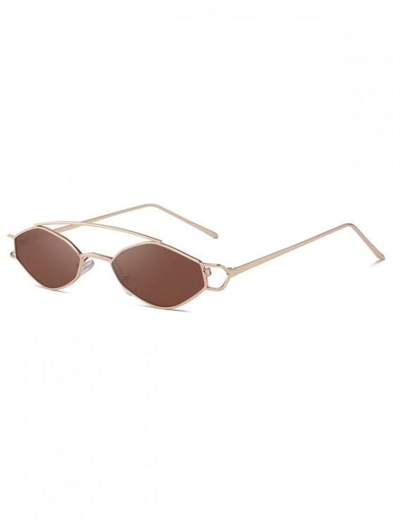 online Irregular Narrow Arc Bar Sunglasses - PUCE