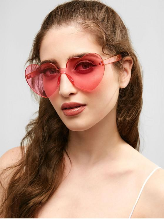 best Anti Fatigue Heart Lens One Piece Sunglasses - PIG PINK