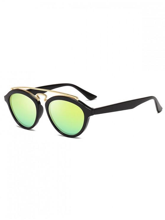 lady Metal Bar Outdoor Driving Sunglasses - SUN YELLOW