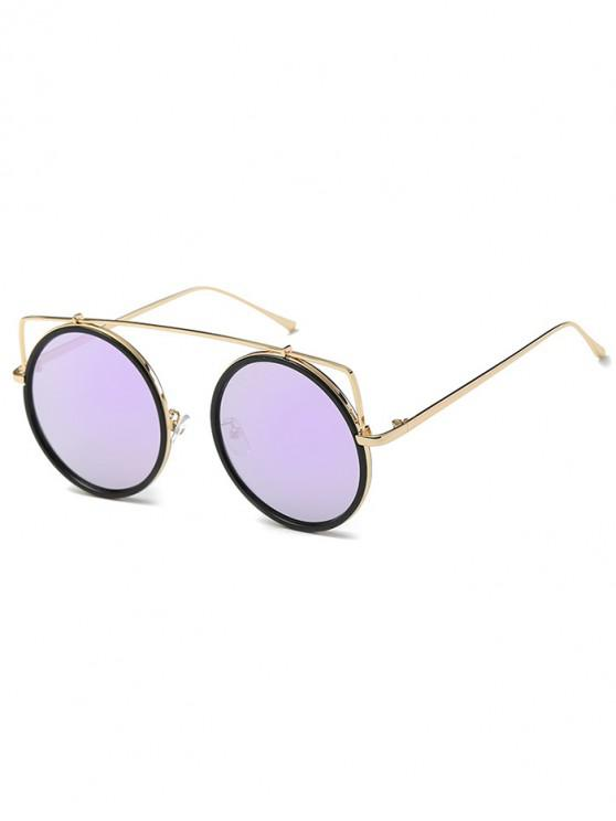 sale Vintage Bar Round Sunglasses - PURPLE MIMOSA
