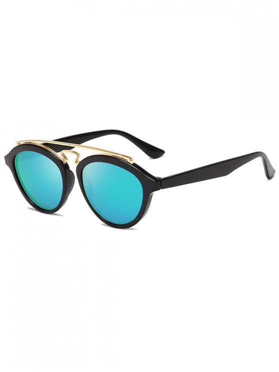 buy Metal Bar Outdoor Driving Sunglasses - MEDIUM TURQUOISE