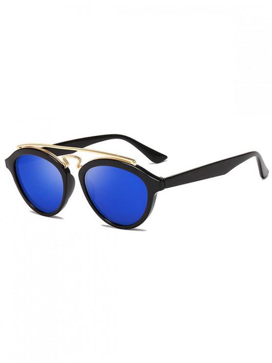 women's Metal Bar Outdoor Driving Sunglasses - COBALT BLUE