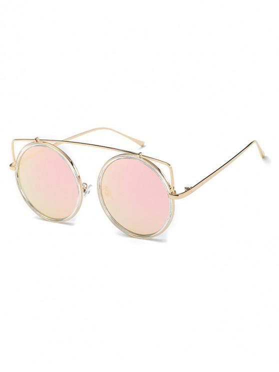 lady Vintage Bar Round Sunglasses - PIG PINK