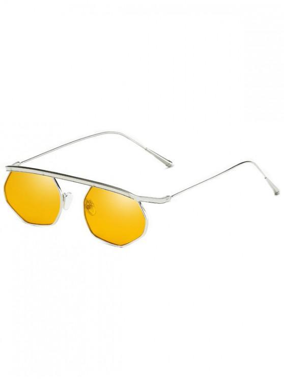 best Personalized Irregular Bar Sunglasses - BEE YELLOW