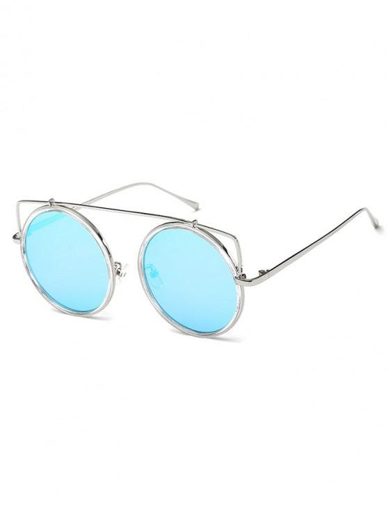 online Vintage Bar Round Sunglasses - PALE BLUE LILY