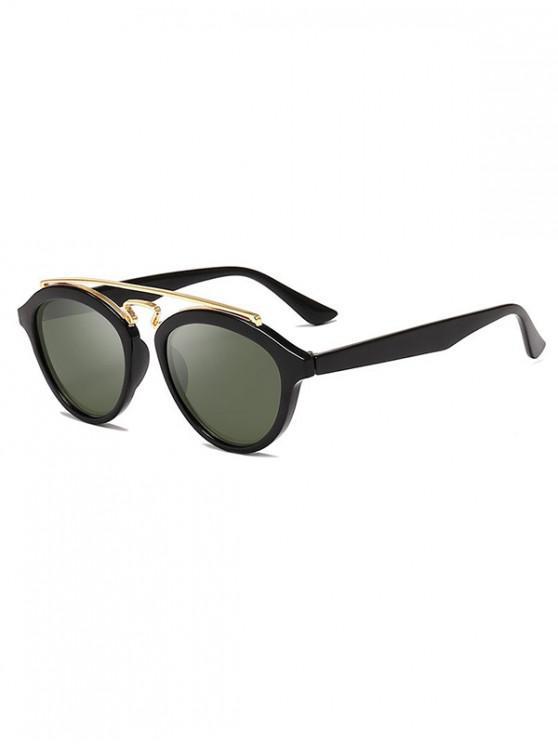 latest Metal Bar Outdoor Driving Sunglasses - DARK SEA GREEN