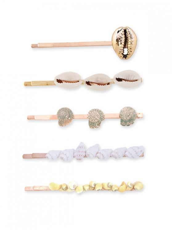chic 5Pcs Beach Shell Hairpin Set - MULTI-A
