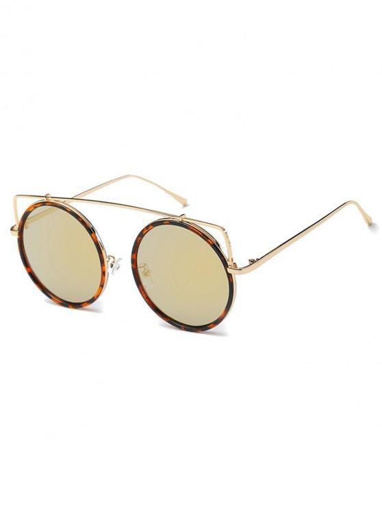 fancy Vintage Bar Round Sunglasses - ROSE GOLD
