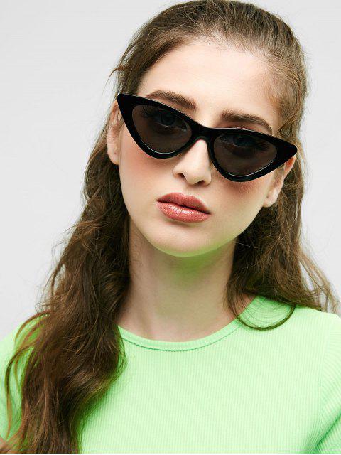 Солнцезащитные Очки Кошачий Глаз С Плоскими Стеклами С Антибликовым Покрытием - Чёрный  Mobile