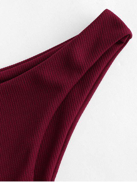 Bikini Bottom di ZAFUL a Costine a Gamba Alta - Vino Rosso M Mobile