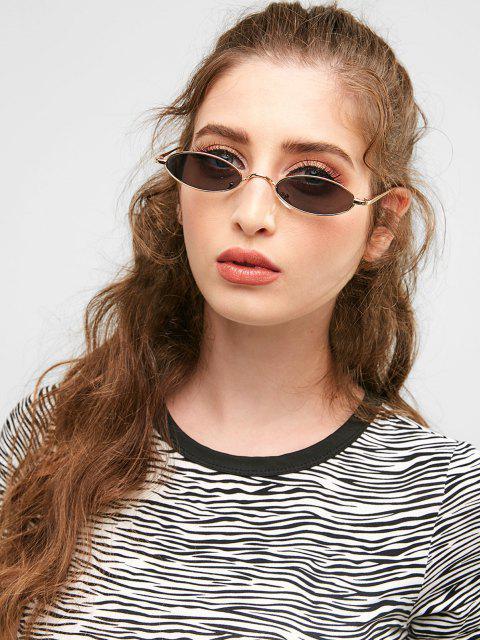 Óculos de Sol Exclusivo com Moldura Metálica - Dourado + Cinza  Mobile