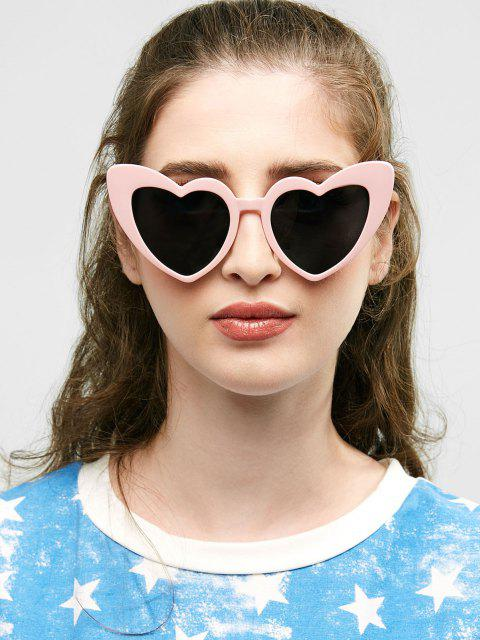 unique Heart Shape Sunglasses - BLACK AND PINK  Mobile