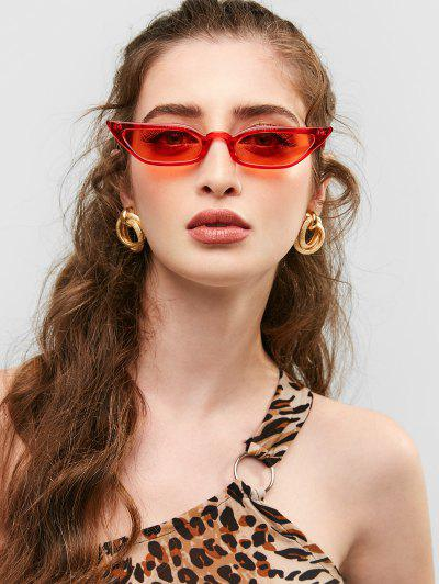 509cbb7dac Animal Print Stylish Narrow Lens Sunglasses - Red ...