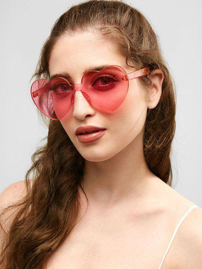 076be21249c2d Anti Fatigue Heart Lens One Piece Sunglasses - Pig Pink ...