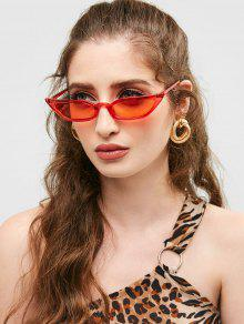 b36eb89a61d1a 9% OFF   HOT  2019 Animal Print Stylish Narrow Lens Sunglasses In ...