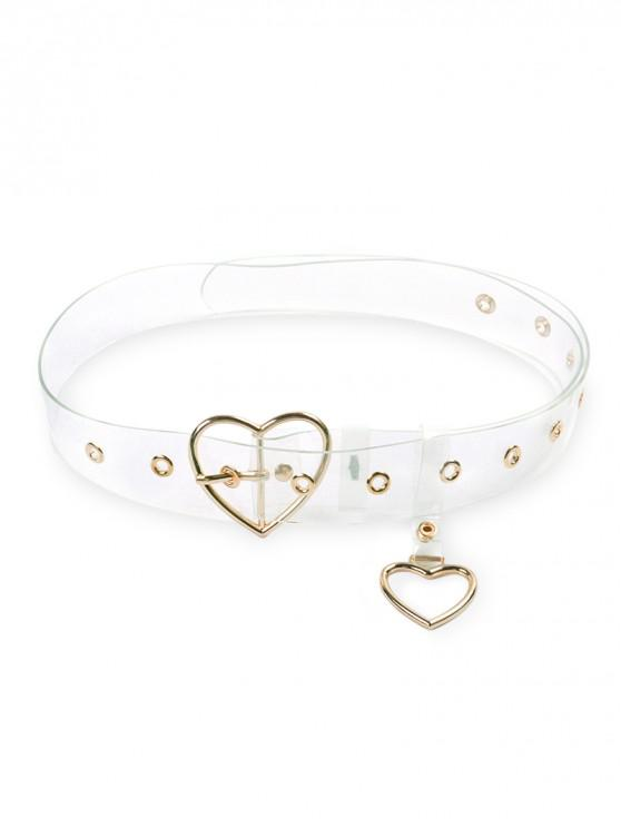 outfits Heart Metal Buckle Transparent Belt - GOLD