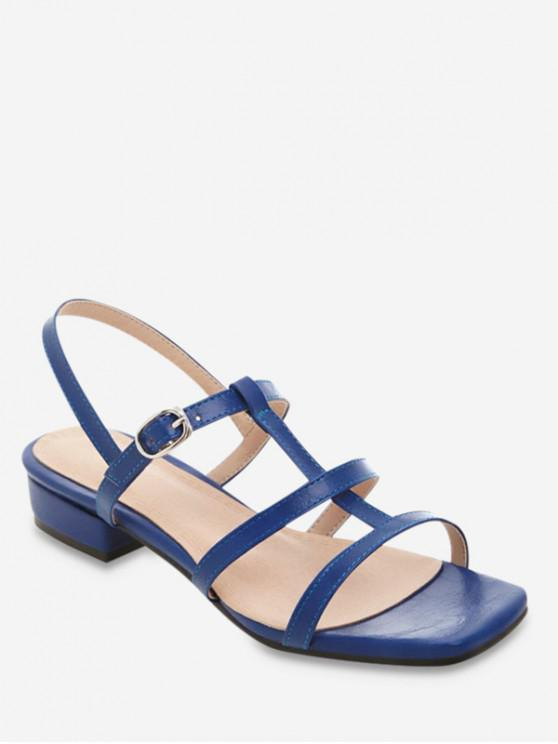 women's Retro Solid Beach Sandals - OCEAN BLUE EU 38