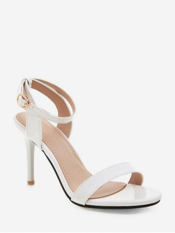 women's Simple Style Ankle Strap Buckle Strap Sandals - WHITE EU 41