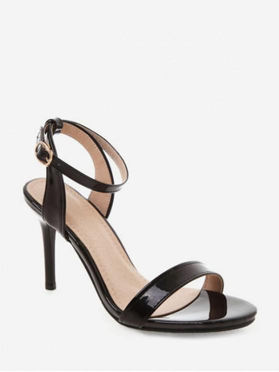 b91a1ed6bf13d 38% OFF] 2019 Simple Style Ankle Strap Buckle Strap Sandals In BLACK ...