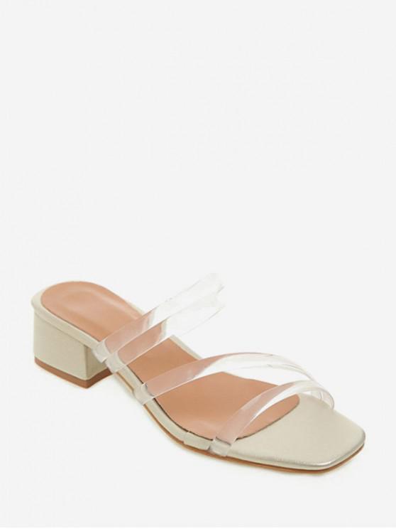 ladies Slip-on Transparent Strap Sandals - GOLD EU 41
