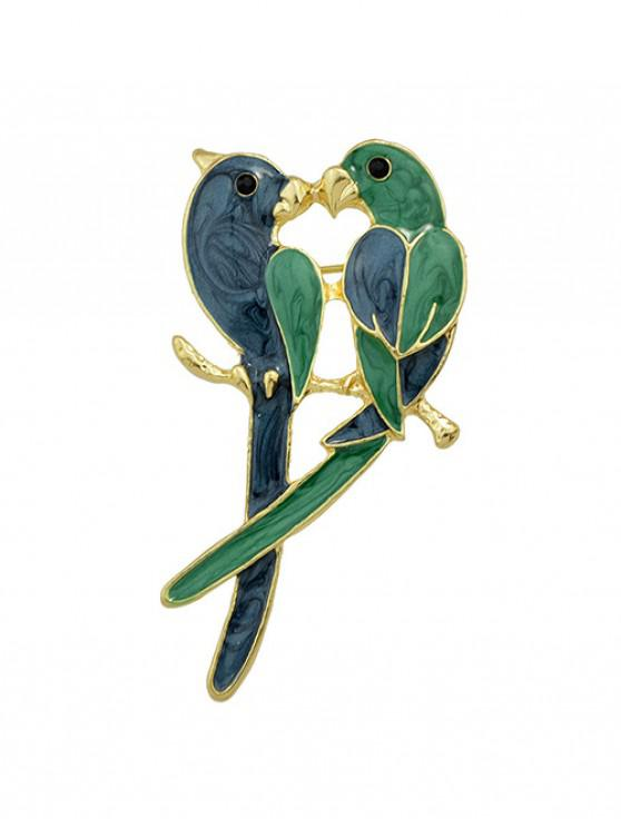 outfits Birds Shape Enamel Brooch - SEAWEED GREEN