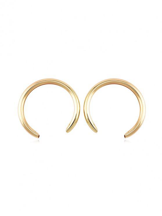 affordable European Tube C Shape Stud Earrings - GOLD