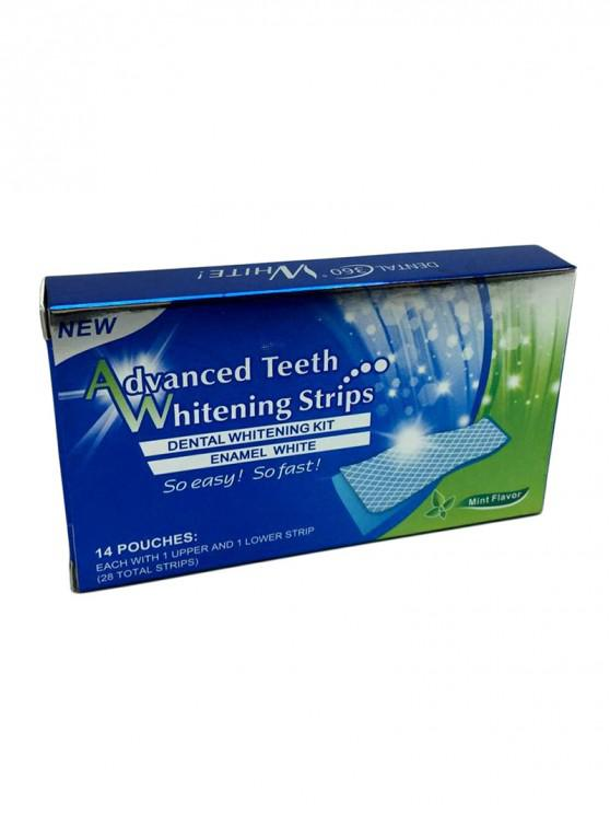 hot Tooth Whiten Dental Hygiene Advanced Teeth Whitening Strips - COBALT BLUE 7 PAIRS
