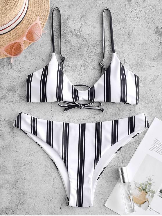 outfit ZAFUL Striped Cami Tank Bikini Swimsuit - MULTI-A M