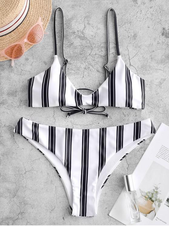 ZAFUL Maillot de Bain Bikini Rayé à Bretelle - Multi-A L