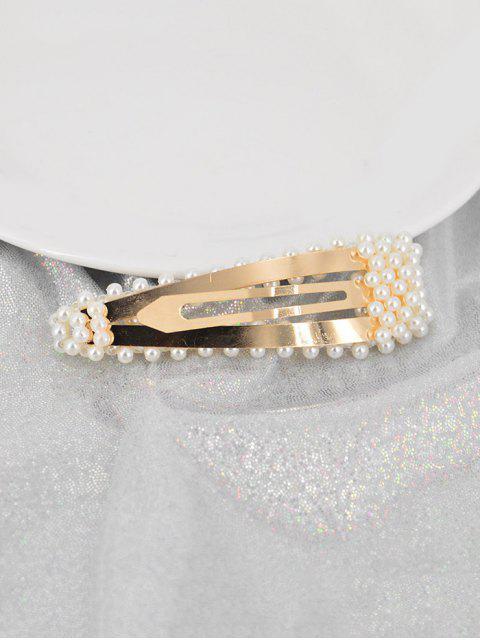 trendy Faux Pearls 8CM Hair Grip - MULTI-B  Mobile