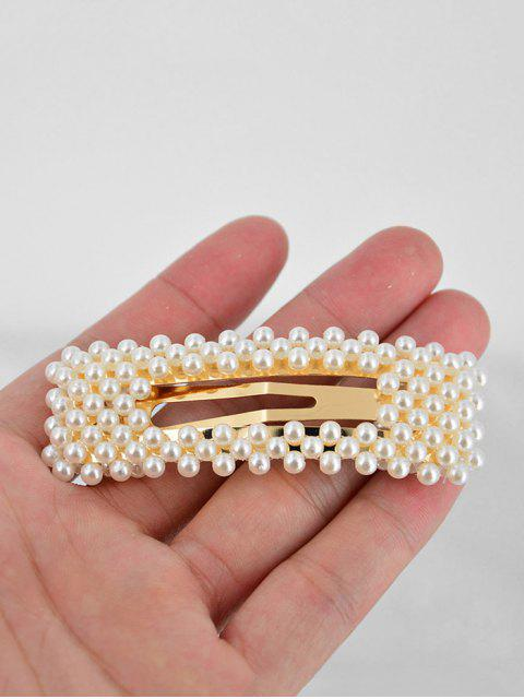 ladies Faux Pearls 8CM Hair Grip - MULTI-A  Mobile