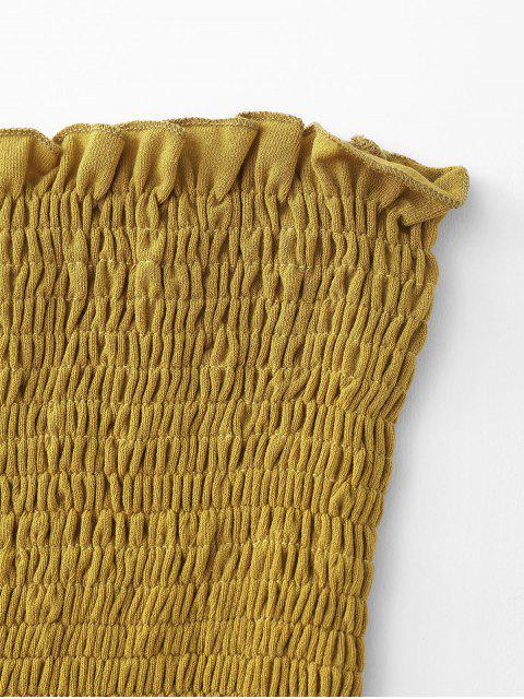 Parte superior do bandeau da guarnição da alface - Amarelo Um Tamanho Mobile