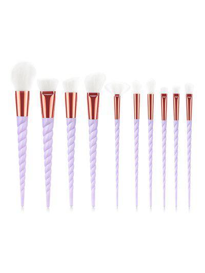 Image of 10 PCs Spiral Handle Makeup Brushes
