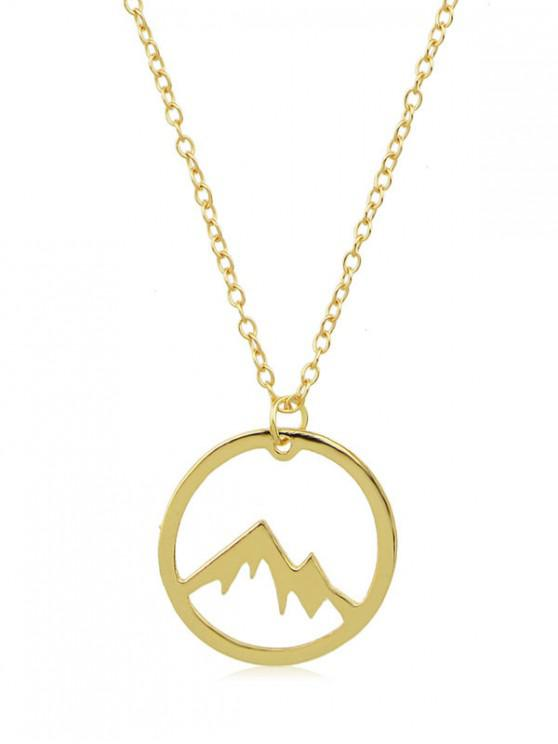 Collar minimalista colgante de montaña - Oro