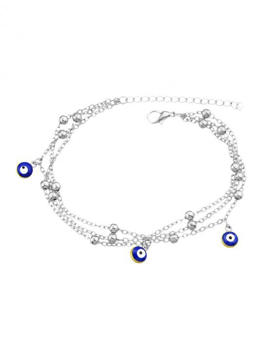 affordable Single Eye Design Chain Anklet - SILVER
