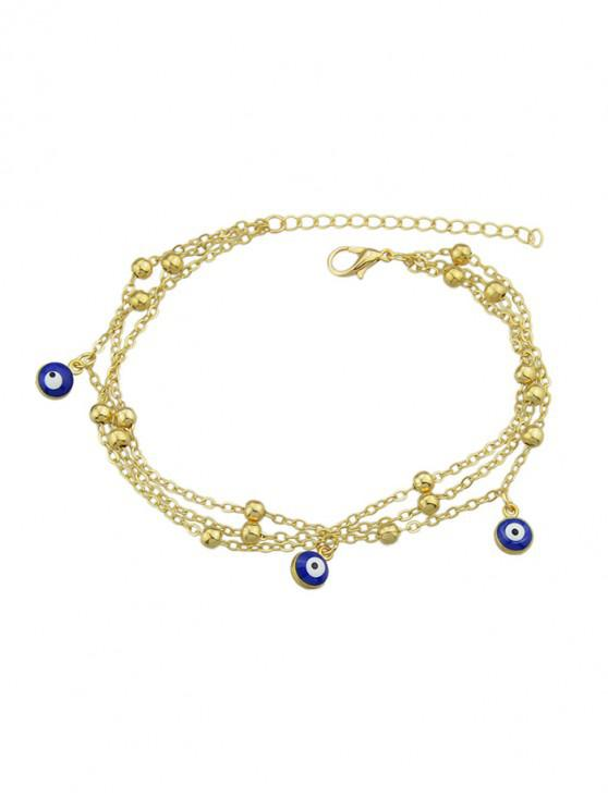 women Single Eye Design Chain Anklet - GOLD