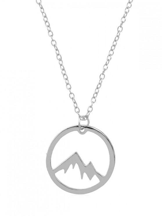 Collier Montagne Minimaliste Pendant - Argent