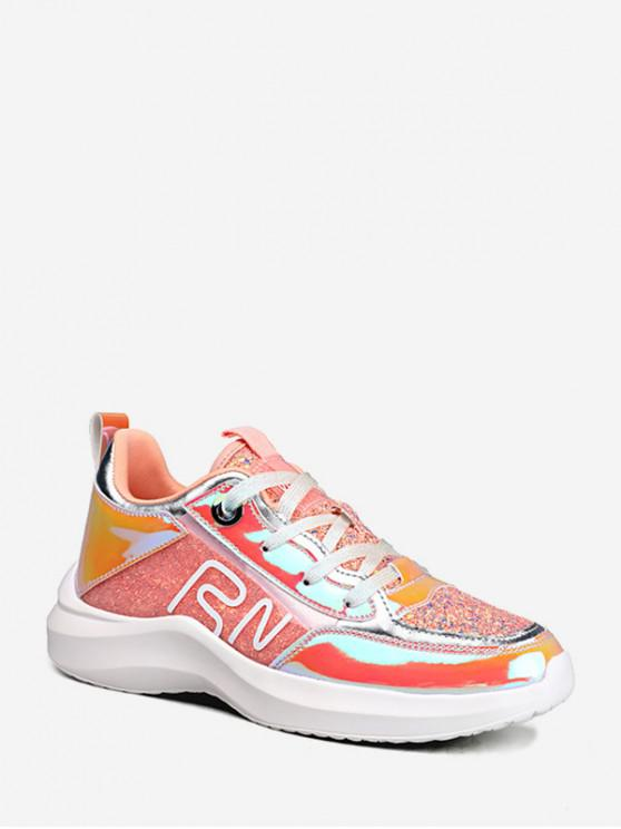 0829f154f3 Sequined Holographic Outdoor Sneakers