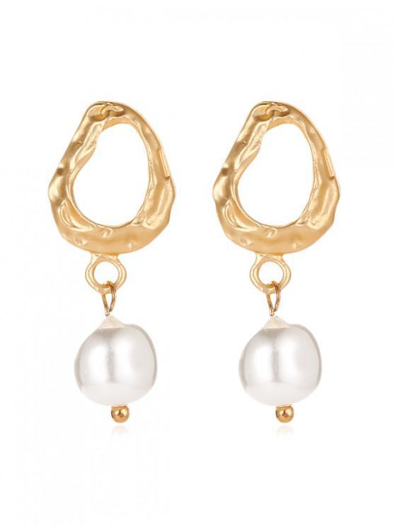unique Faux Pearl Irregular Stud Earrings - MULTI-H