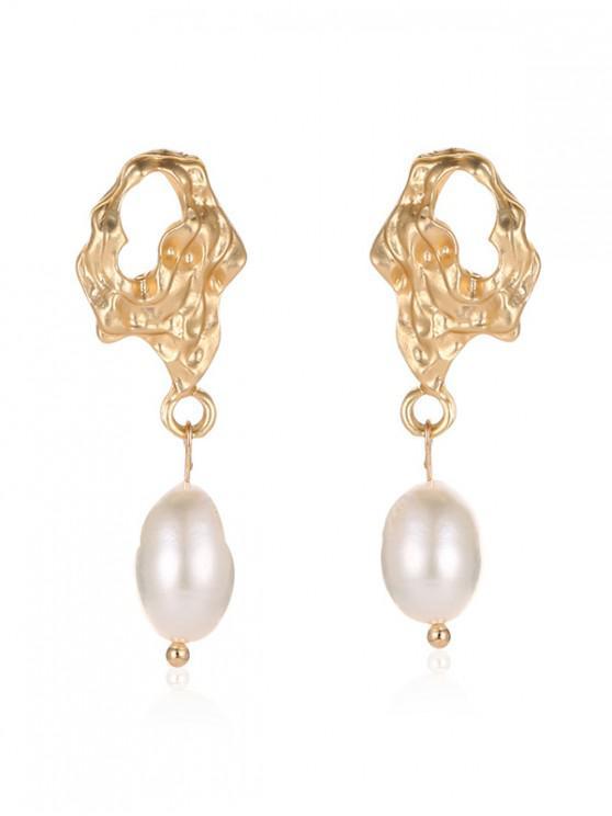 women Faux Pearl Irregular Stud Earrings - MULTI-C