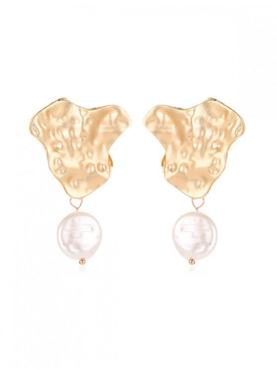 latest Faux Pearl Irregular Stud Earrings - MULTI-G
